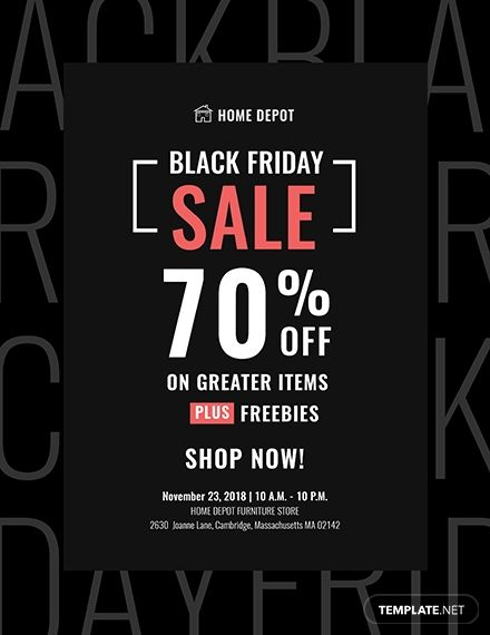 Free Black Friday Promotional Flyer Template Word Doc Psd Apple Mac Pages Publisher Holiday Flyer Template Promotional Flyers Flyer