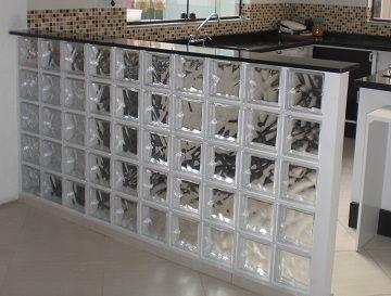 Cozinhas Americanas Com Tijolo De Vidro Projetos E Espelhos