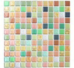 Yoillione 3d Fliesenaufkleber Mosaik Bad Fliesenfolie Kuche Selbstklebende 3d Mosaik Fliesen Sticker Weiss In 2020 Fliesenaufkleber Fliesenaufkleber Mosaik Fliesenfolie