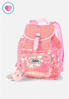 7443b55f402 Flying Pig Flip Sequin Mini Backpack | Justice new do in 2019 | Mini ...
