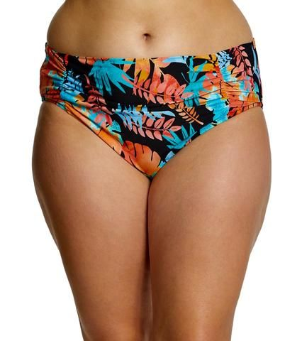 Plus Size Swimwear Bikini High Waisted Bikini Bottom Lorikeet In 2020 Plus Size Swimsuit Tops Underwire Swimwear Bra Size Swimwear