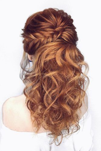 Wedding Hairstyles Half Up Half Down With Veil With Flowers Bridal Hair Long Hair Short Hair Long Hair Bridal Hair Half Up Wedding Hair Half Half Up Hair