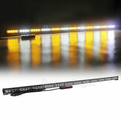 Sponsored Ebay 52 48 Led Warning Emergency Traffic Advisor Strobe Light Bar Amber White 12 24v Strobe Lights Bar Lighting Led Strobe Light Bar