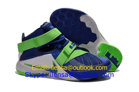 detailed look b39a9 f2a37 Nike LeBron Soldier IX EP 9 XDR Blue Green White Basketball Shoes 2015 New