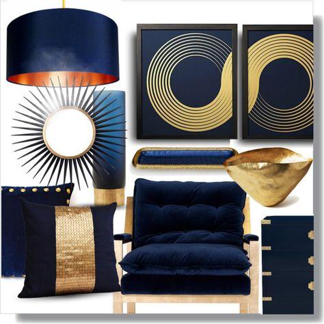 Blue Gold Modern Blue Gold Living Room Gold Home Decor Rooms Home Decor