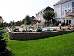 Image result for in ground pool sloped yard in 2019 ... on backyard irrigation ideas, swimming pools landscape ideas, fiberglass pool landscape ideas, backyard pool hardscape, picnic table landscape ideas, backyard garden designs ideas, backyard pool plants, bird feeder landscape ideas, backyard pool ponds, hammock landscape ideas, backyard pool garden, backyard wedding ideas, inground pool landscape ideas, backyard pool succulents, backyard mulching ideas, arizona desert landscape ideas, pool landscaping ideas, backyard patios ideas, indoor pool landscape ideas,