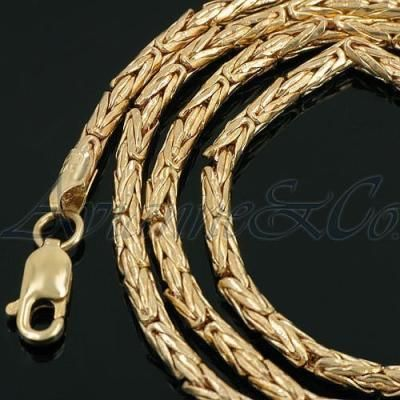 lobster amazon with yellow mens clasp slp necklace wheat claw square gold solid chains com braided chain