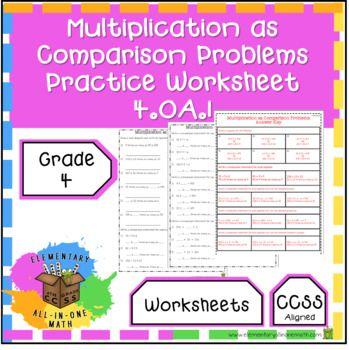Pin On 4 Oa 1 Multiplicative Comparison As Multiplication Equations
