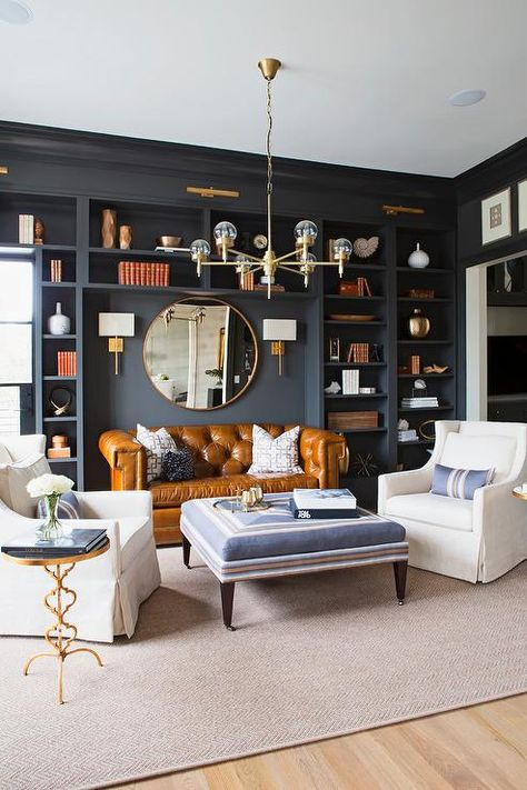 Home Interior And Gifts brass living room interior decor.Home Interior And Gifts brass living room interior decor Living Room Sofa, Home Living Room, Living Room Designs, Living Room Decor, Chesterfield Living Room, Living Room Modern, Mirrors In Living Room, Chesterfield Library, Living Room With Grey Sofa