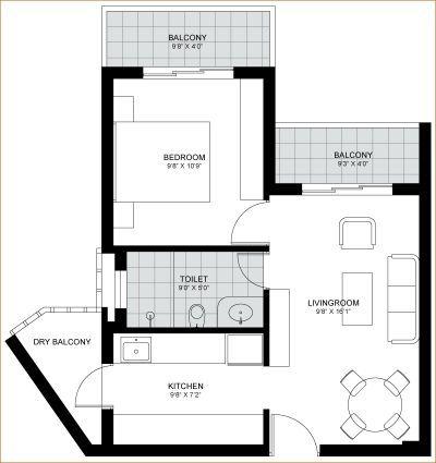1 Bhk Ground Floor Plan Layout Floor Plan Layout Floor Plans Ground Floor Plan