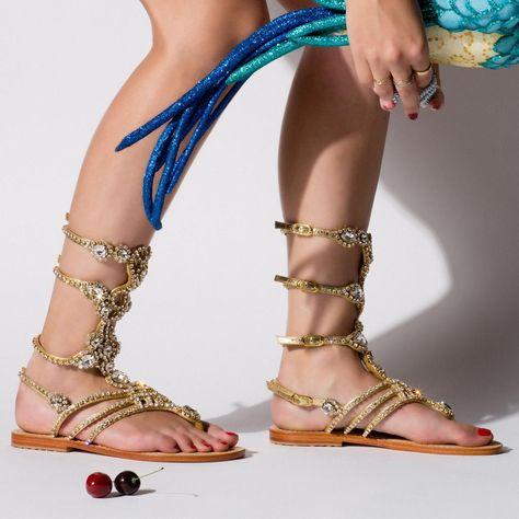 c496d5b287b South Beach - Women s Leather Jeweled Sandals - Mystique Sandals