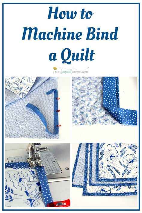 Follow this step-by-step tutorial that teaches Binding a quilt by machine. It's the best way to finish a quilt that will get lots of use and perfect for baby quilts. #quiltingtips #machinebinding #howtoquilt #sewingbeginners #diyquilts
