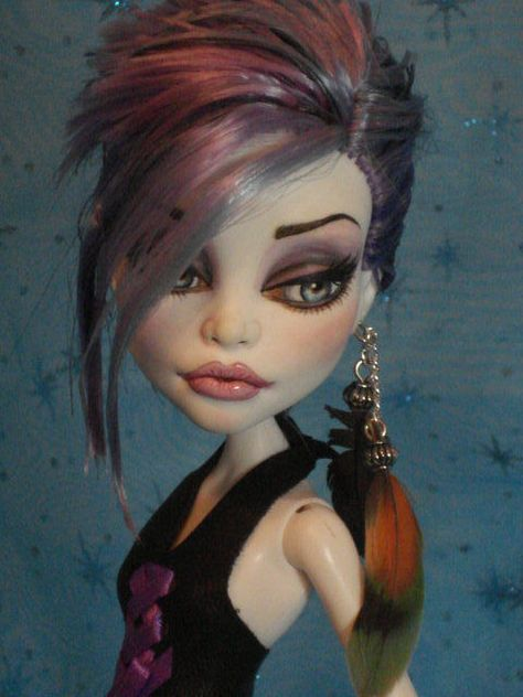 ~ Mina ~ OOAK Monster High Spectra Repaint ~ by Bordello ~ (beautiful-love her)