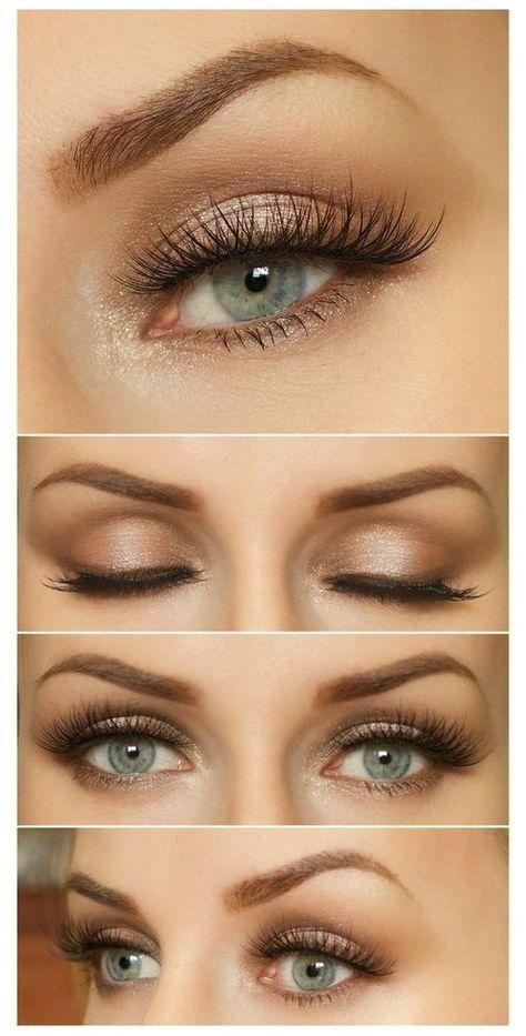 bridal makeup for blue eyes sparkle