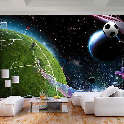 Vlies Fototapete Fussball Tapeten Jugendzimmer Fussballplatz