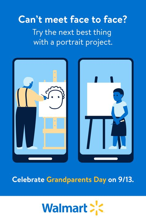 Find the right supplies for the perfect portrait. We have everything you need to celebrate Grandparents Day together on 9/13. Click to find more quick and easy ideas for virtual celebrations!