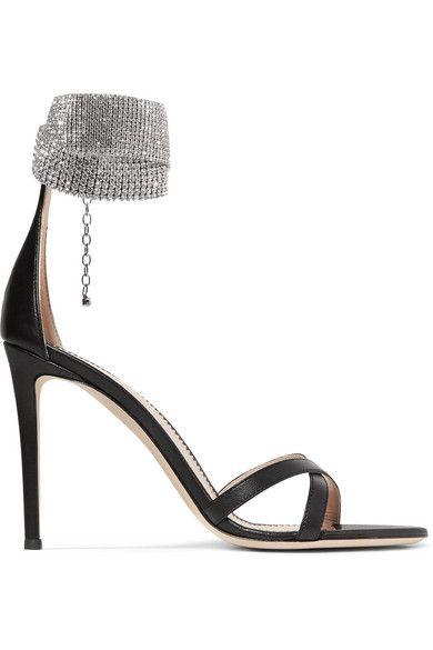 Giuseppe Zanotti 105 Crystal Embellished Leather Sandals Embellished Leather Sandals Giuseppe Zanotti Heels Giuseppe Zanotti