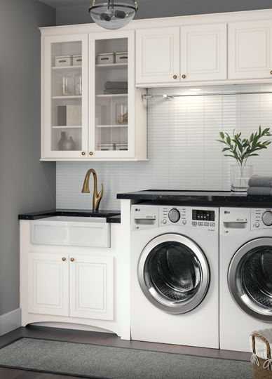 An On Trend Laundry Room Cardell Cornerstone Collection White