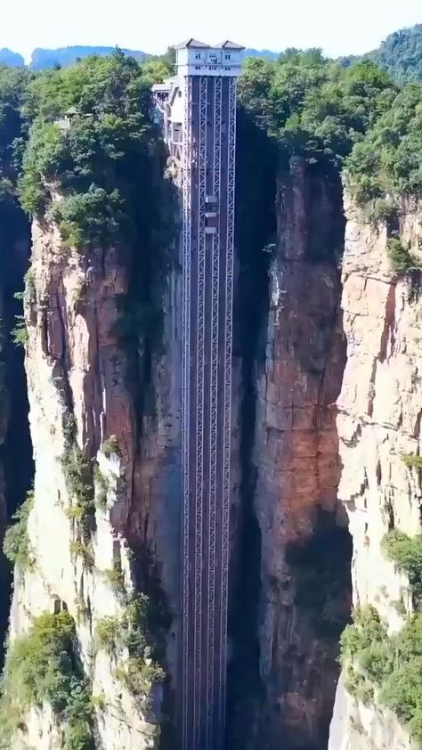 The Bailong Elevator is a glass elevator built onto the side of a huge cliff in the Wulingyuan area of Zhangjiajie, People's Republic of China that is 326 m (1,070 ft) high. > CLICK TO LEARN MORE