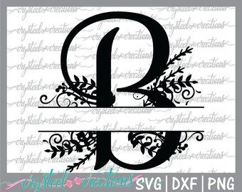 Silhouette And Cricut Svg Cutting File Font Svg Alphabet Svg Split Monogram Svg Regal Monogram Split Letter Divided Initial Visual Arts Craft Supplies Tools