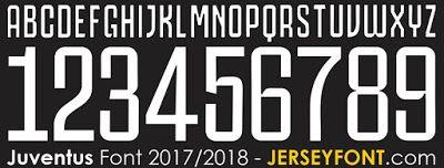 Juventus Font 2017/2018   Football Fonts   Desain dan Olahraga