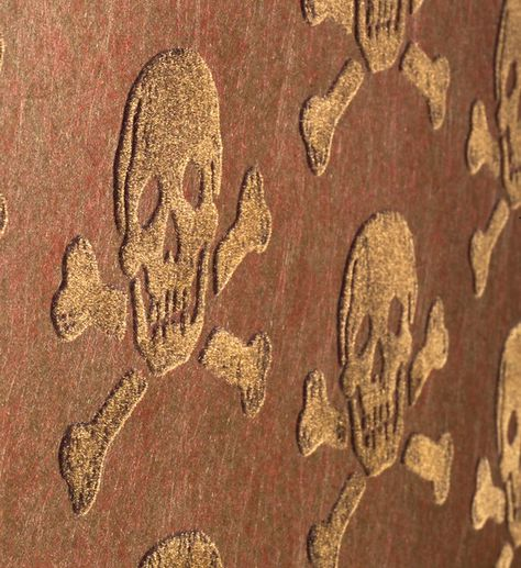 Beware the Moon ~ Skulls (On deep pile velvet. Love it!)