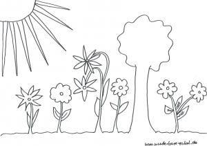 Schablonenausmalbild Garten Malen Ausmalen Basteln Und Schablonen