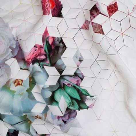 Geeking out over here on this geometric print. Love the touch of color. #printspiration #geometric #inspiration #textiles