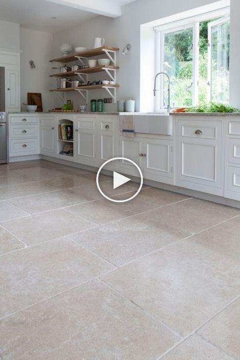 Dijon Getrommelt Kalkstein Haus Bodenbelag Kalksteinboden