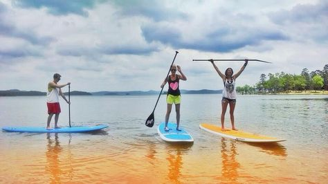 Try something different this #summer in #Oklahoma and learn how to do stand up paddleboarding with PaddleSUP on Broken Bow #Lake.