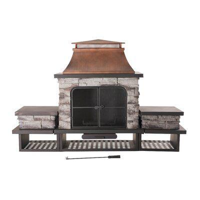 Canora Grey Quillen Steel Wood Burning Outdoor Fireplace Wayfair Natural Gas Outdoor Fireplace Outdoor Fireplace Patio Gazebo