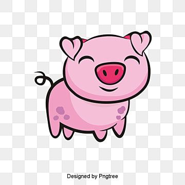 Pig Clipart Pig Pink Pig Pink Pig Vector Year Of The Pig Lovely Pig Little Pig In 2021 Pig Clipart Pig Vector Cartoon Clip Art