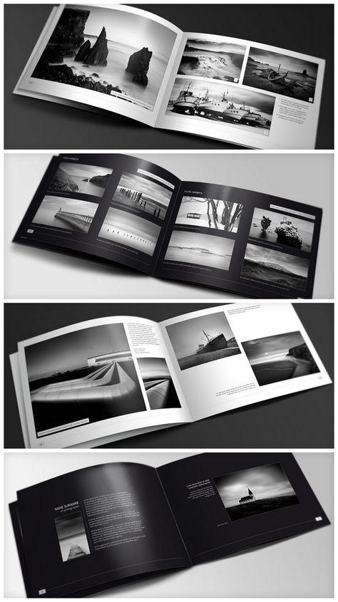 awesome brochures design samples produced by LogoPeople India. Inspiratie voor brochures zwart/wit.
