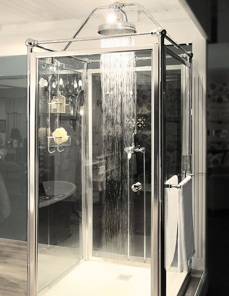 Our Freestanding Glass Shower Enclosure With Running Water Was