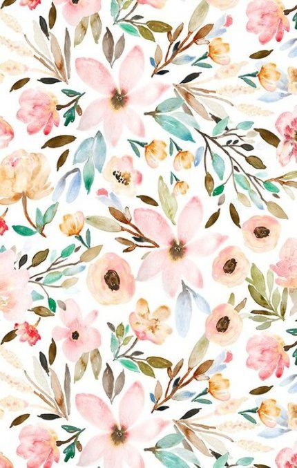 Watercolor Flowers Wallpaper Watercolor Desktop Wallpaper