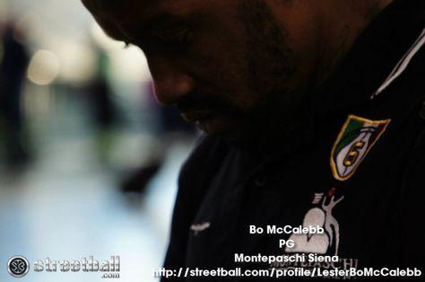 Streetball family member Bo McCalebb.  Bo McCalebb is the best point guard not in an NBA uniform.