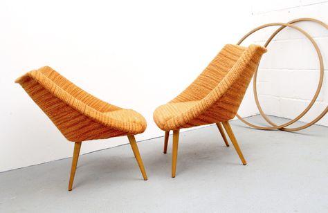 Parchen 50er Jahre Cocktail Sessel In Orange Von Silent Cube Auf Dawanda Com Sessel Outdoor Dekorationen Sitzgelegenheiten