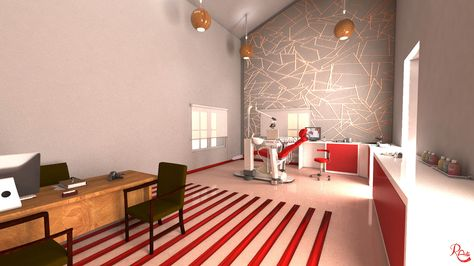 Treatment Room Dental Clinic Design VRay Render | Interior Design 3D ...