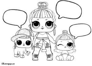 Honey Bun Lil Honey Bun And Bunny Hun Coloring Page Lol Dolls Baby Coloring Pages Coloring Pages