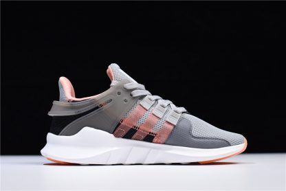 Comfortable Adidas Originals EQT Support ADV Grey Chalk Coral White CQ2251 Women's Running Sneakers Shoes