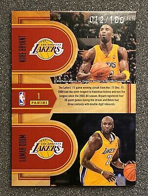 Base Basketball Card Kobe Bryant #273 2009-10 Panini -