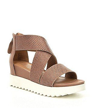 e15b6448749 Steven by Steve Madden NC-Klein Perforated Platform Wedge Sandals ...