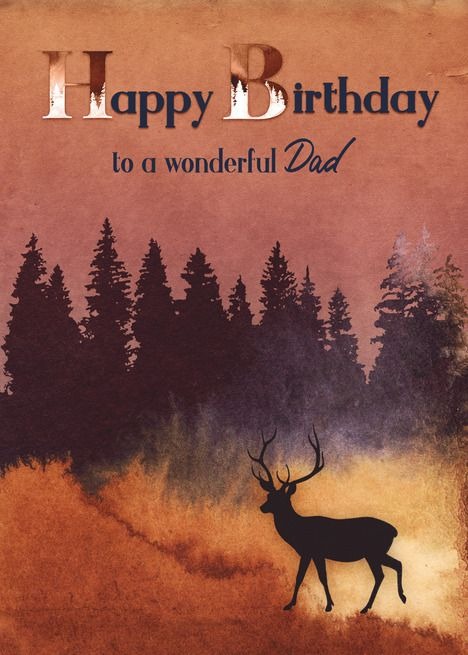 Happy Birthday Images With Deer : happy, birthday, images, Birthday, Wilderness, Scene, Silhouette, #paid,, #Wilderness,, #Dad,, #Birthday, Cards,, Silhouette,