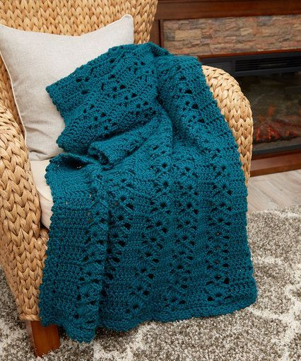 Charming Crochet Throw - free pattern by Katherine Eng for