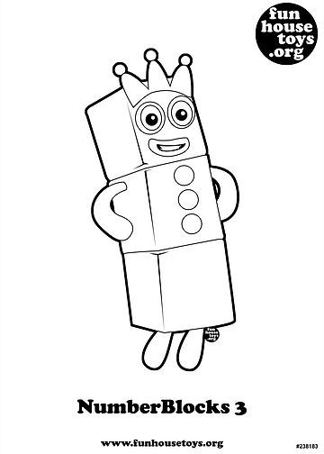 Fun House Toys Numberblocks Kids Printable Coloring Pages Cool Coloring Pages Home Goods