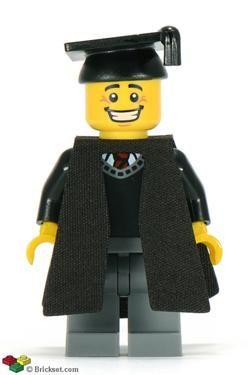 Graduate School Student minifigure graduation  toy figure