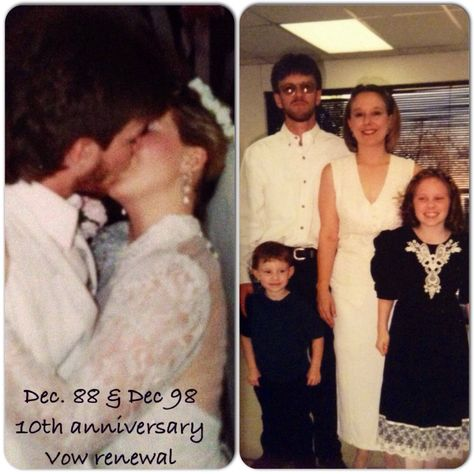 From the wedding until the 10th anniversary vow renewal.