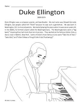 Duke Ellington Coloring Sheets Yahoo Image Search Results 2020