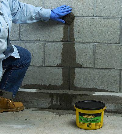 Learn To Stop Running Water Repair Cracks In Masonry Repair Leaking Walls Seal Holes In Foundations Repair Swimming Poo Home Repair Foundation Leak Repair