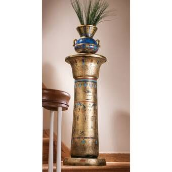 Regal Egyptian Luxor Pedestal Plant Stand In 2021 Egyptian Furniture Design Toscano Egyptian Kings